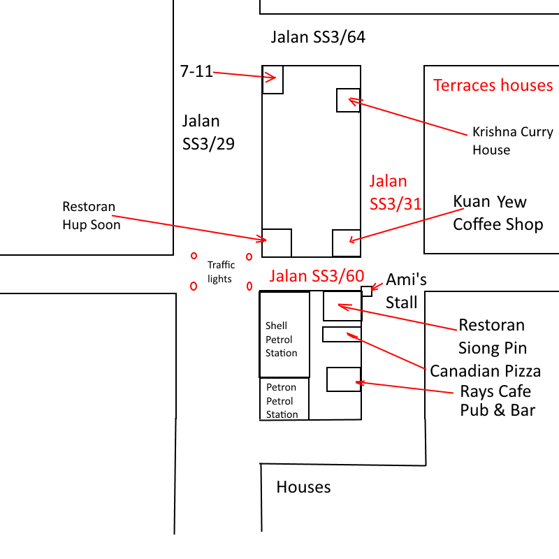location map of Rays Cafe